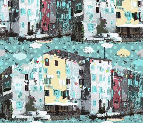 Rovinj city fabric by katarina on Spoonflower - custom fabric
