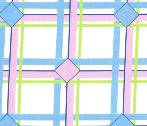 Ice Box Diamond Plaid - Pastel