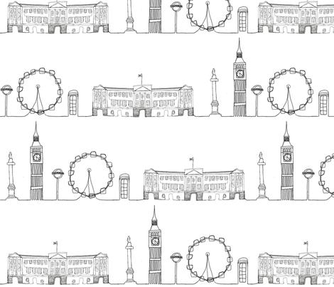 London_Cityscape fabric by hlbyatt on Spoonflower - custom fabric