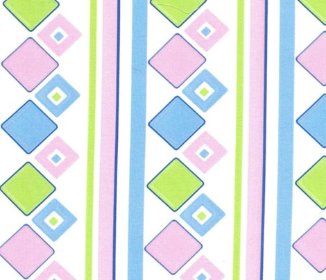 Ice Box Diamond Stripe - Pastels