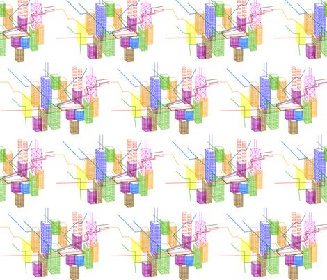 Chicago_El_Train_ fabric by ingrid_ on Spoonflower - custom fabric