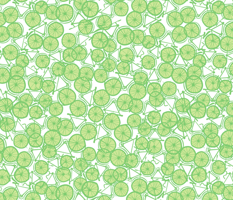 Baby Bicycle Lime fabric by spellstone on Spoonflower - custom fabric