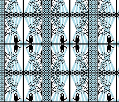 Bird-Eco fabric by ninjaauntsdesigns on Spoonflower - custom fabric