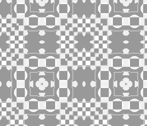 Art Deco Floret 4, L fabric by animotaxis on Spoonflower - custom fabric