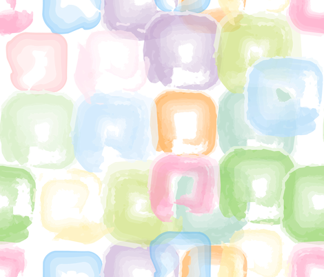 Watercolor Squares fabric by owlandchickadee on Spoonflower - custom fabric