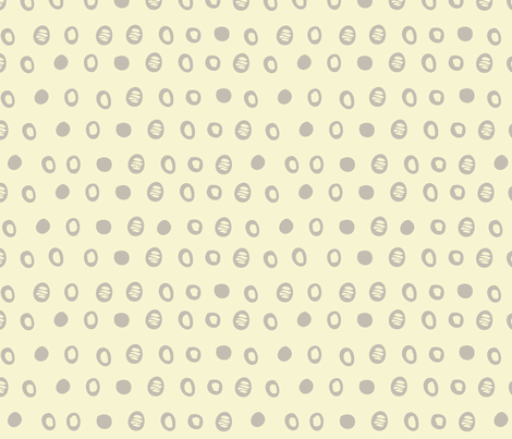 gray_and_off_white_dots_for_flowers fabric by gsonge on Spoonflower - custom fabric