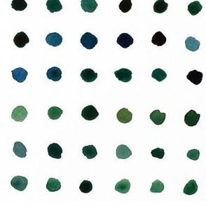 Watercolour Dots in Blue