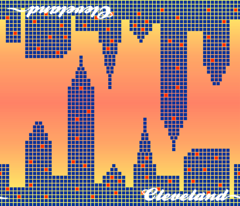 Welcome to Cleveland! fabric by illustrative_images on Spoonflower - custom fabric