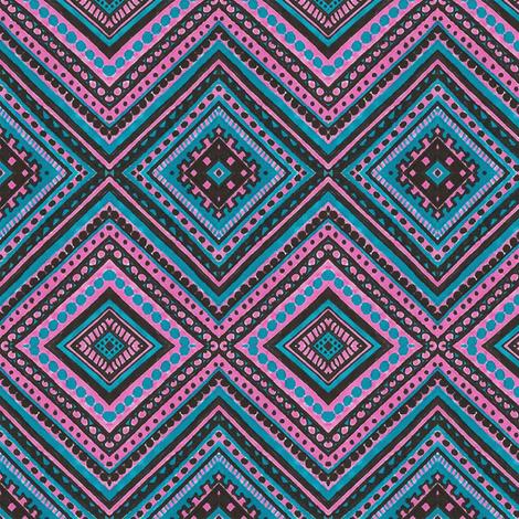 Nighttime in Flamingo Lagoon fabric by siya on Spoonflower - custom fabric