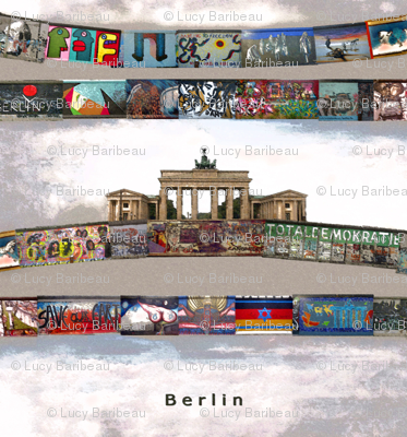 Berlin wall and Brandenburg door