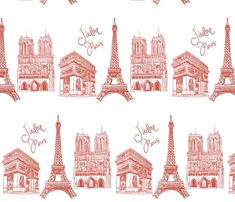 J'adore Paris fabric by artsycanvasgirl on Spoonflower - custom fabric