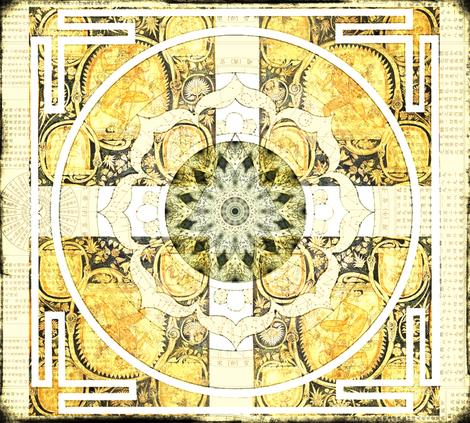Lotus Mandala fabric by novelatelier on Spoonflower - custom fabric