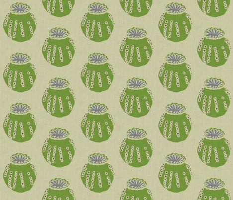 poppy_pod_large_linen fabric by holli_zollinger on Spoonflower - custom fabric