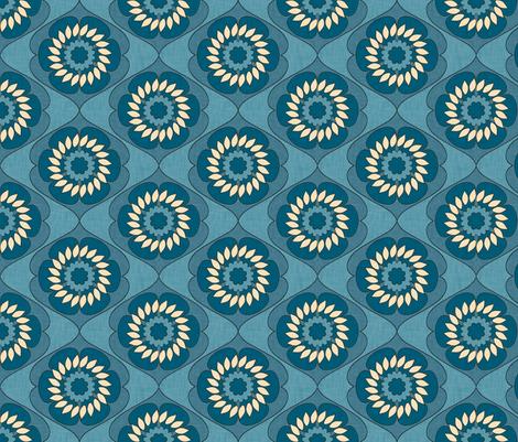 gloriosa_indigo_linen fabric by holli_zollinger on Spoonflower - custom fabric