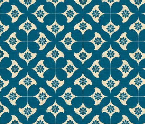 indigo_stars_linen fabric by holli_zollinger on Spoonflower - custom fabric