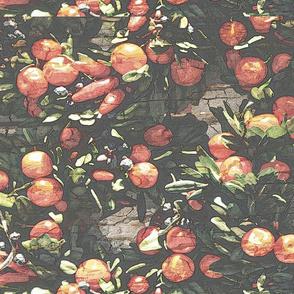Chrismas wreath tea towel - winter