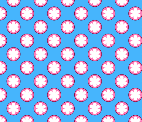 Half Mangosteens (Small) fabric by nekineko on Spoonflower - custom fabric