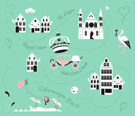 cityscapes of The Hague fabric by miss_honeybird on Spoonflower - custom fabric