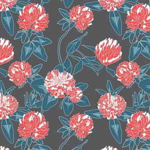 Clover flower- grey