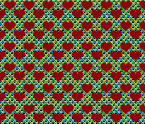 The Queen of Hearts boudoir fabric by glanoramay on Spoonflower - custom fabric