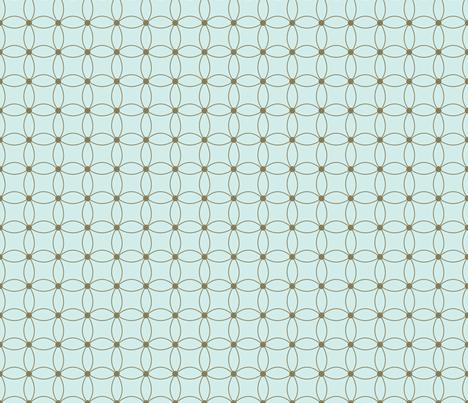 Daisy blue fabric by melissamarie on Spoonflower - custom fabric