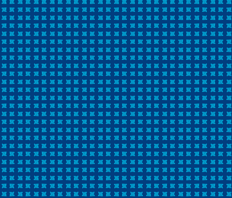 cloud design bright sky blue on dark blue fabric by bad_penny on Spoonflower - custom fabric