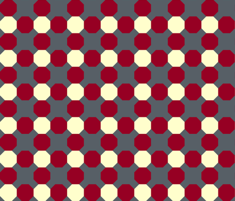 Octagons and X's fabric by pond_ripple on Spoonflower - custom fabric
