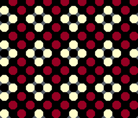 Lattice and Octagons fabric by pond_ripple on Spoonflower - custom fabric