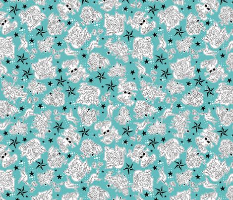 Derby Tatts fabric by cynthiafrenette on Spoonflower - custom fabric