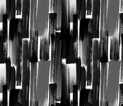 Brush in Black fabric by cynthiafrenette on Spoonflower - custom fabric