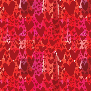 Painted Hearts - Red on Brushy