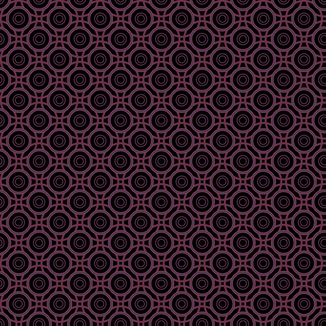 Black and red interlocking circles © Gingezel™ 2012 fabric by gingezel on Spoonflower - custom fabric