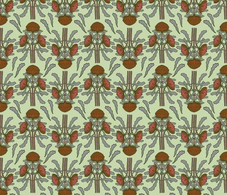 Waratahs on pale green by Su_G fabric by su_g on Spoonflower - custom fabric