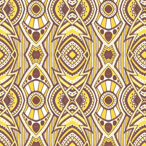 Banana Cream Big Band fabric by siya on Spoonflower - custom fabric