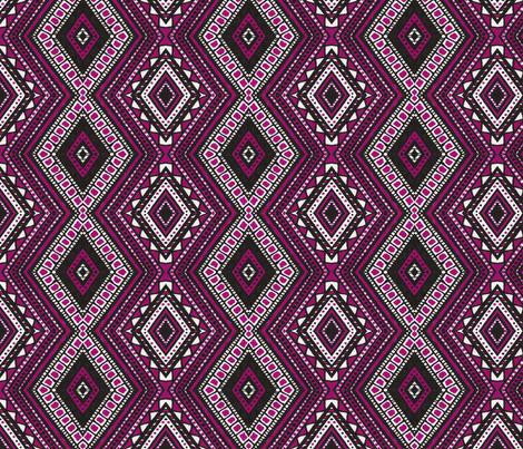 Diamond Noir fabric by siya on Spoonflower - custom fabric