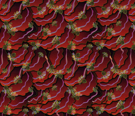 organic floral 1500 fire berry fabric by glimmericks on Spoonflower - custom fabric