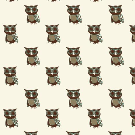 Warm Owl fabric by kimberly-ann on Spoonflower - custom fabric