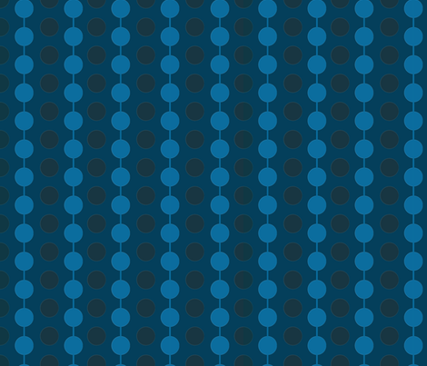 Linked Dots_ Blue and Navy fabric by gsonge on Spoonflower - custom fabric