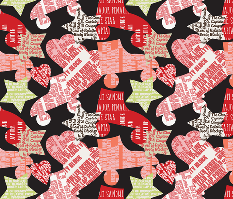 Do You Speak Roller Derby? - 2 fabric by owlandchickadee on Spoonflower - custom fabric