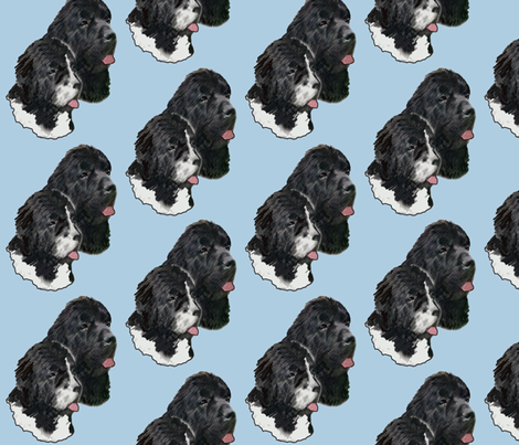 Newfoundland_Dog_Portraits fabric by dogdaze_ on Spoonflower - custom fabric