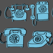 Rotary Phone // vintage colors