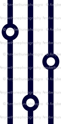 ABP navy beaded curtain
