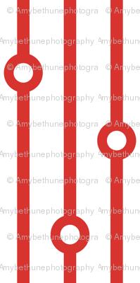 ABP scarlet beaded curtain