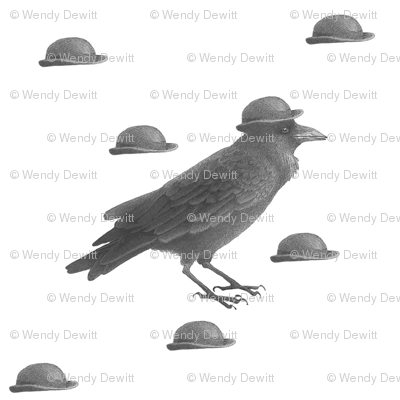Bowler Hat Crow