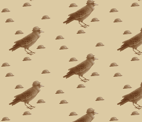crow w bowler hat fabric by golders on Spoonflower - custom fabric