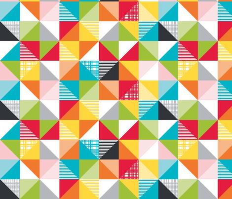 playful flags large multi fabric by whimsiekim on Spoonflower - custom fabric