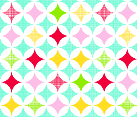 large diamond star fabric by whimsiekim on Spoonflower - custom fabric
