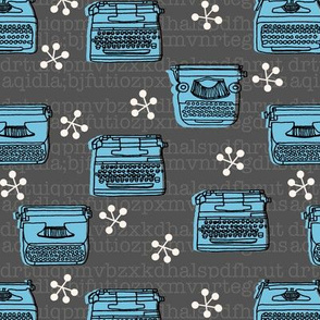 Typewriter fabric // vintage retro typewriter fabric by andrea lauren
