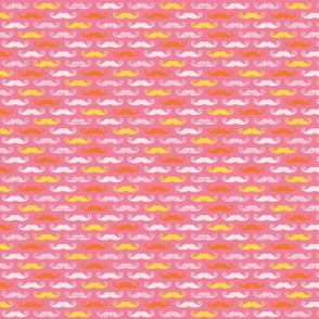 pink orange stache