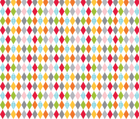 white multi-diamond fabric by whimsiekim on Spoonflower - custom fabric